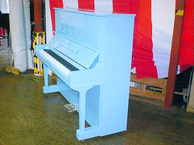 ペールブルー塗装(横から)