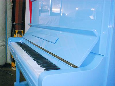 ペールブルー塗装(鍵盤)