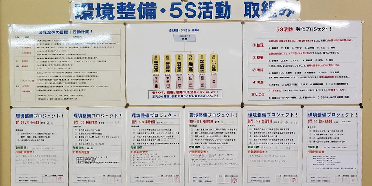 環境整備・5S 活動 取組み